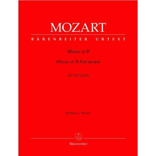 BARENREITER MOZART W.A. - MISSA IN B-FLAT MAJOR KV 275 - SCORE
