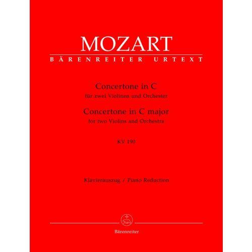 BARENREITER MOZART W.A. - CONCERTONE IN C MAJOR FOR 2 VIOLINS AND ORCHESTRA KV 190(166B,KV6:186)
