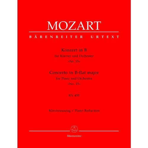 BARENREITER MOZART W.A. - CONCERTO N°15 POUR PIANO ET ORCHESTRE EN SIB MAJEUR KV 450 - PIANO