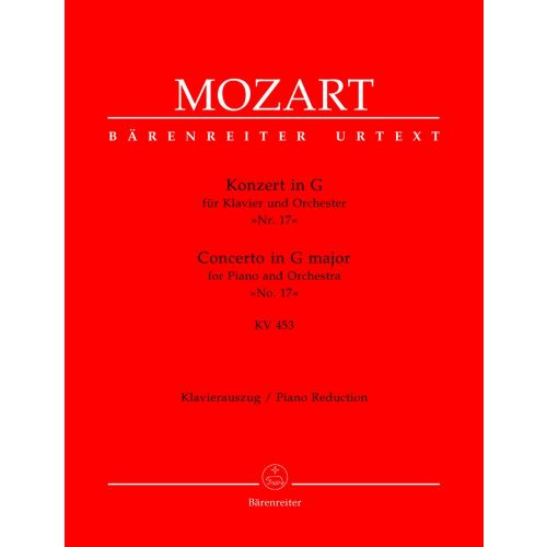 BARENREITER MOZART W.A. - CONCERTO N°17 FOR PIANO AND ORCHESTRA IN G MAJOR KV 453 - PIANO