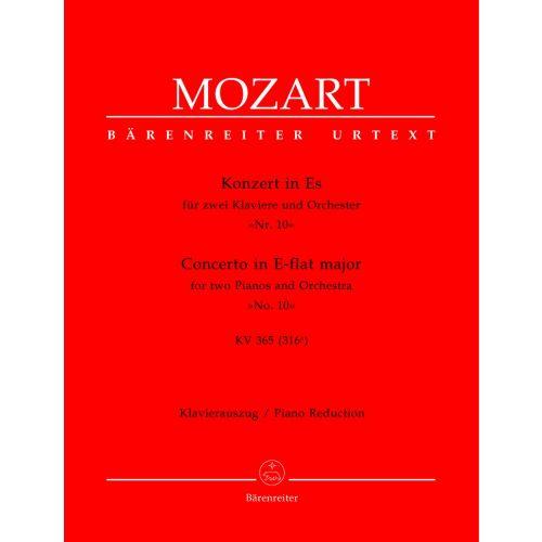 BARENREITER MOZART W.A. - CONCERTO N°10 EN MIB MAJEUR KV 365 (316A) - 2 PIANOS