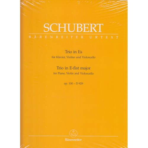 BARENREITER SCHUBERT - TRIO IN E-FLAT MAJOR FOR PIANO, VIOLIN AND VIOLONCELLO E-FLAT MAJOR D 929 OP. 100