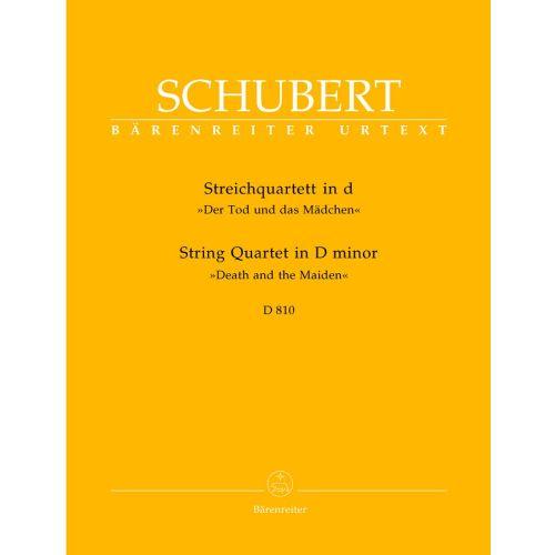 BARENREITER SCHUBERT F. - STRING QUARTET