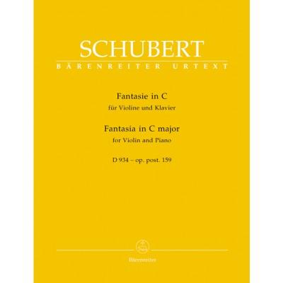 BARENREITER SCHUBERT F. - FANTASIA FOR VIOLIN & PIANO C MAJOR OP. POSTH 159 D 934