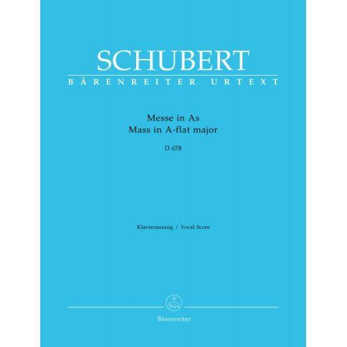 BARENREITER SCHUBERT F. - MASS IN A-FLAT MAJOR D 678 - VOCAL SCORE