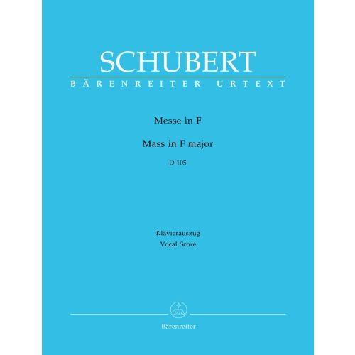 BARENREITER SCHUBERT F. - MASS IN F MAJOR D 105 - VOCAL SCORE