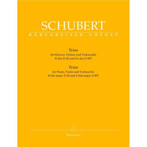 BARENREITER SCHUBERT F. - TRIOS D 28, D 897 OP.POST.148 - KLAVIER, VIOLINE, VIOLONCELLO