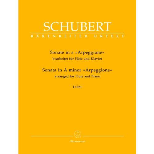 BARENREITER SCHUBERT F. - SONATE ARPEGGIONE EN LA MINEUR D 821 - FLUTE, PIANO