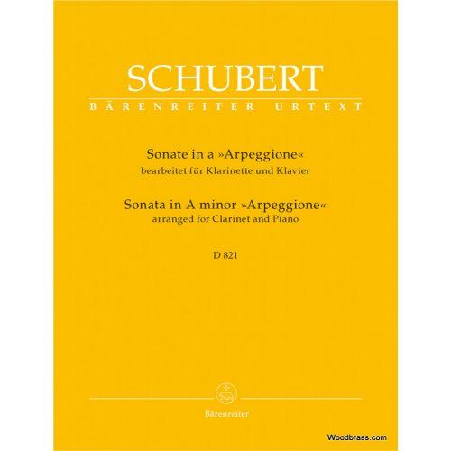 BARENREITER SCHUBERT F. - SONATE ARPEGGIONE EN LA MINEUR D 821 - CLARINETTE & PIANO