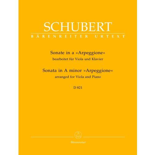 BARENREITER SCHUBERT F. - SONATE ARPEGGIONE EN LA MINEUR D 821 - VIOLA, KLAVIER