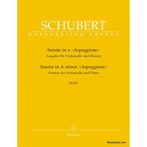 BARENREITER SCHUBERT F. - SONATE A-MOLL D 821