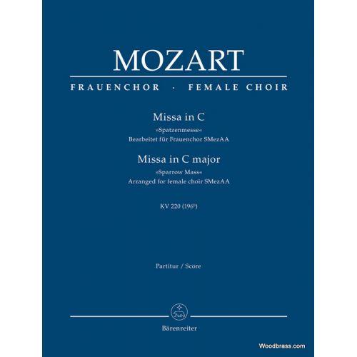 BARENREITER MOZART W.A. - MISSA IN C MAJOR KV 220 (196b)
