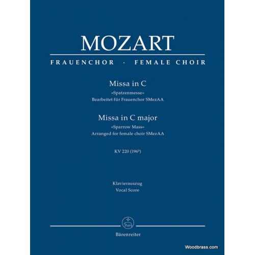 BARENREITER MOZART W.A. - MISSA IN C MAJOR KV 220 (196b)