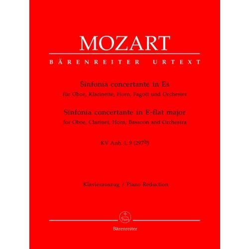 BARENREITER MOZART W.A - SINFONIA CONCERTANTE IN ES KV ANH. I,9 (297B) - OBOE, KLARINETTE, HORN, FAGOTT, KLAVIER