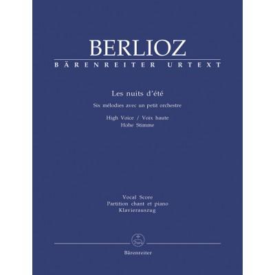 BARENREITER BERLIOZ H. - LES NUITS D'ETE - VOIX ET PIANO