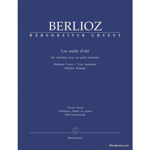 BARENREITER BERLIOZ HECTOR - LES NUITS D'ETE - CHANT & PIANO