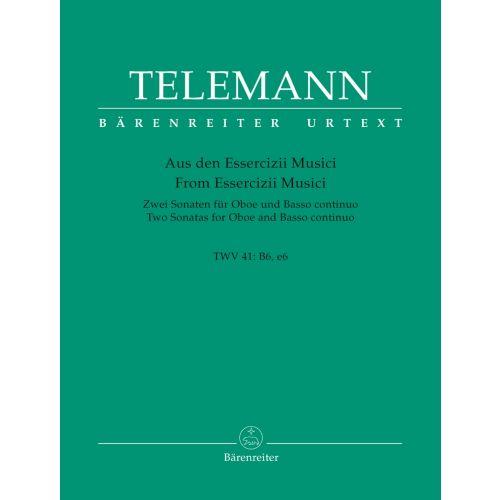 BARENREITER TELEMANN G. PH. - TWO SONATAS - VIOLON ET BC