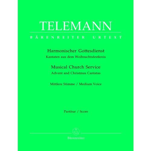 BARENREITER TELEMANN G.P. - DER HARMONISHER GOTTENDIENST, 72 SOLO CANTATAS FOR VOICE