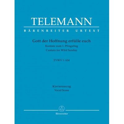 BARENREITER TELEMANN G.P. - GOTT DER HOFFNUNG ERFULLE EUCH TVWV 1:634 - VOCAL SCORE