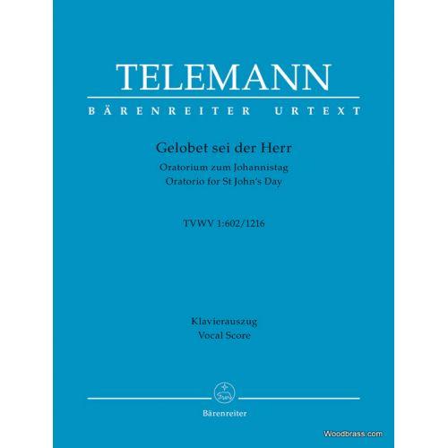 BARENREITER TELEMANN G.P. - GELOBET DEI DER HERR TVWV 1:602/1216 - VOCAL SCORE