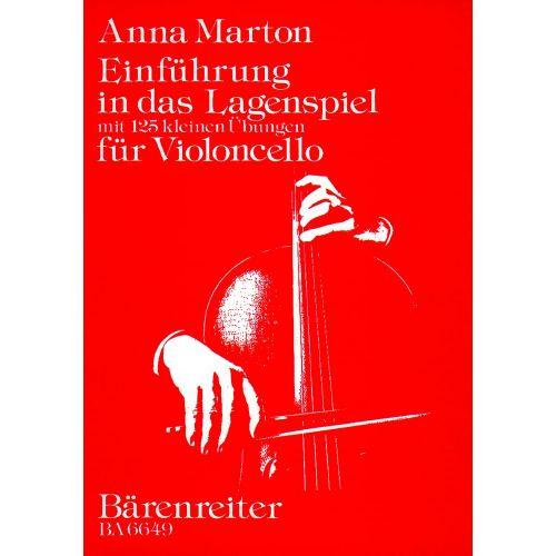 BARENREITER MARTON ANNA - MARTON ANNA - EINFUHRUNG IN DAS LAGENSPIEL MIT 125 KLEINEN UBUNGEN - VIOLONCELLO