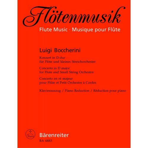 BARENREITER BOCCHERINI, LUIGI - CONCERTO FOR FLUTE AND STRINGS D MAJOR OP. 27 - FLUTE, PIANO