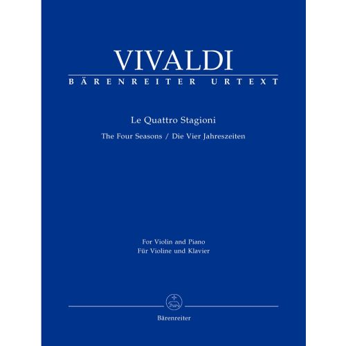 BARENREITER VIVALDI ANTONIO - THE FOURS SEASONS, OP.8, NR. 1-4 - VIOLIN, STRINGS, BASSO CONTINUO