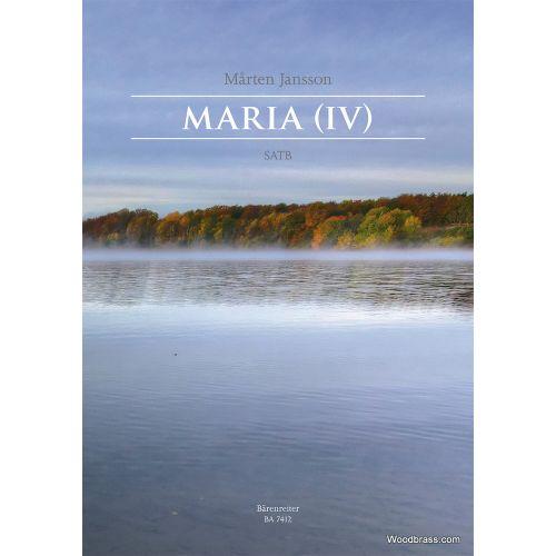 BARENREITER MARTEN JANSSON - MARIA (IV) - SATB