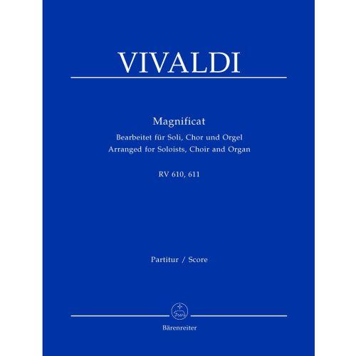 BARENREITER VIVALDI A. - MAGNIFICAT RV 610/611 - SOLOISTS, CHOIR, ORGAN