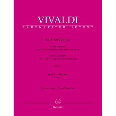 BARENREITER VIVALDI ANTONIO - LA STRAVAGANZA OP.4 VOL.1 - VIOLON & PIANO