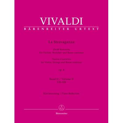 BARENREITER VIVALDI ANTONIO - LA STRAVAGANZA OP.4 VOL.2 - VIOLON & PIANO
