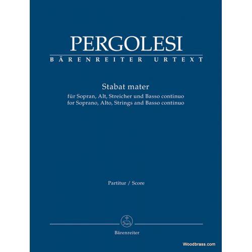 BARENREITER PERGOLESE G.B. - STABAT MATER - SCORE