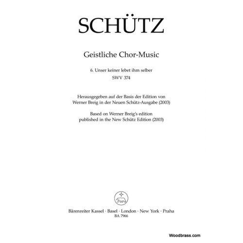 BARENREITER SCHUTZ H. - UNSER KEINER LEBET IHM SELBER SWV 374