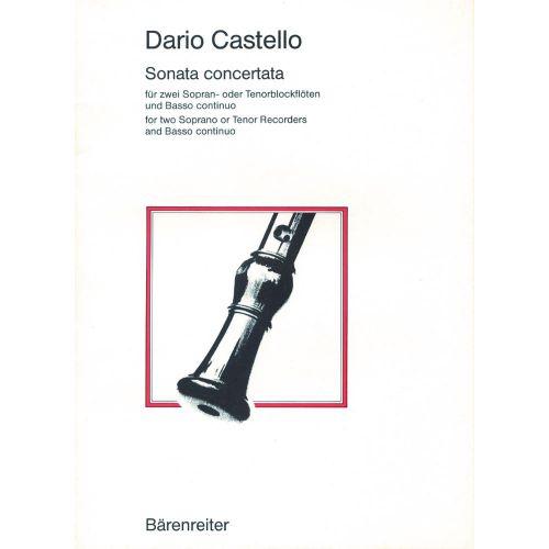BARENREITER CASTELLO DARIO - SONATA CONCERTATA - RECORDER, BASSO CONTINUO