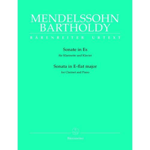 BARENREITER MENDELSSOHN BARTHOLDY F. - SONATA IN E-FLAT MAJOR - CLARINET, PIANO