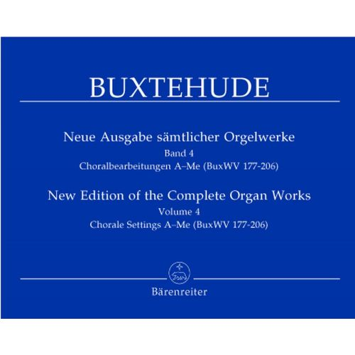 BARENREITER BUXTEHUDE D. - NEW EDITION OF THE COMPLETE ORGAN WORKS, VOL. 4 - ORGAN