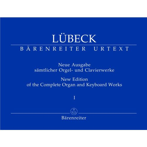 BARENREITER LUBECK VINCENT - NEW EDITION OF THE COMPLETE ORGAN AND KEYBOARD WORKS, VOL. 1 - ORGAN / HARPSICHORD