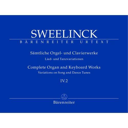 BARENREITER SWEELINCK J.P. - SAMTLICHE ORGEL- UND CLAVIERWERKE, BAND IV.2, LIED- UND TANZVARIATIONEN (TEIL 2)