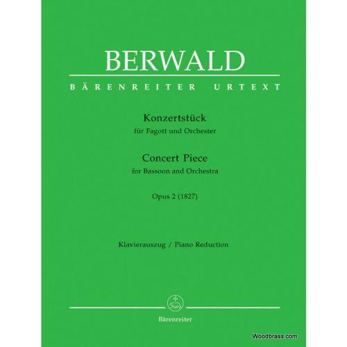 BARENREITER BERWALD FRANZ - CONCERT PIECE FOR BASSOON AND ORCHESTRA OP.2 - BASSON & PIANO