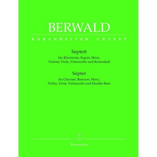 BARENREITER BERWALD FRANZ - SEPTET FOR CLARINET, BASSOON, HORN, VIOLIN, VIOLA, VIOLONCELLO AND DOUBLE-BASS