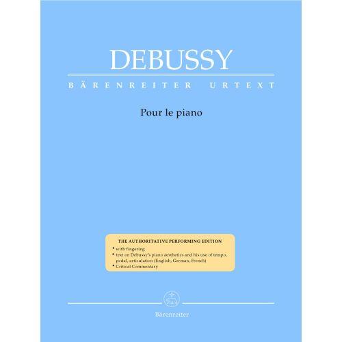 BARENREITER DEBUSSY CLAUDE - POUR LE PIANO
