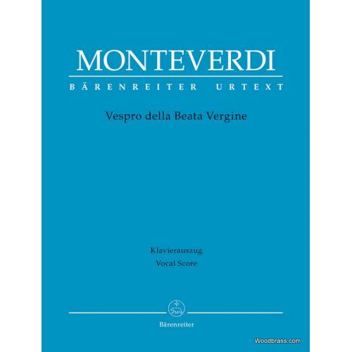 BARENREITER MONTEVERDI C. - VESPRO DELLA BEATA VERGINE - VOCAL SCORE