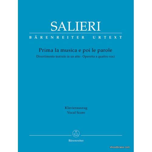 BARENREITER SALIERI A. - PRIMA LA MUSICA E POI LA PAROLE