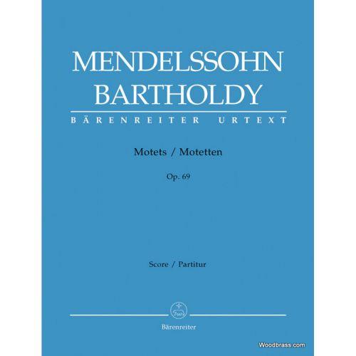 BARENREITER MENDELSSOHN F. - MOTETS OP.69 - SATB