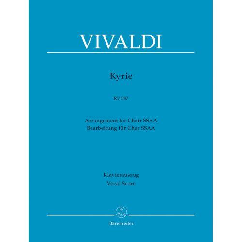 BARENREITER VIVALDI A. - KYRIE RV 587 - VOCAL SCORE