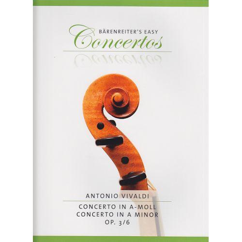 BARENREITER VIVALDI ANTONIO - CONCERTO IN A-MOLL OP.3/6