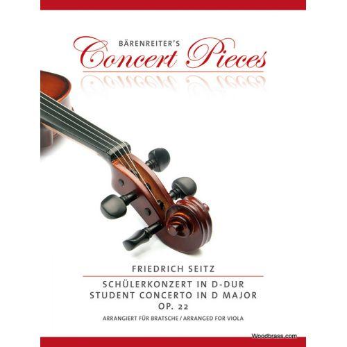 BARENREITER SEITZ F. CONCERTO IN D MINOR OP.22 - ALTO & PIANO