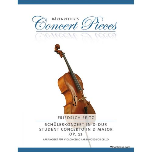 BARENREITER SEITZ F. - CONCERTO IN D MINOR OP.22 - VIOLONCELLE & PIANO