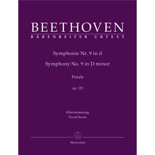 BARENREITER BEETHOVEN L.V. - FINAL CHORUS 'AN DIE FREUDE' OF SYMPHONY NO. 9 D MINOR OP. 125 - CHOIR AND ENSEMBLE