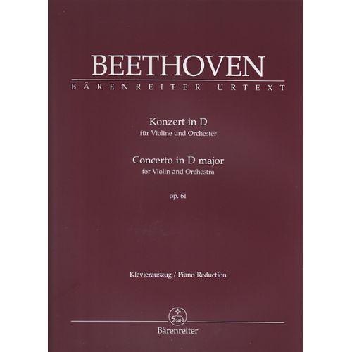 BARENREITER BEETHOVEN LUDWIG VAN - KONZERT IN D OP.61 - VIOLON ET ORCHESTRE - VIOLON/PIANO